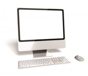 Computer. 3D. Modern Desktop Computer- Added clipping path