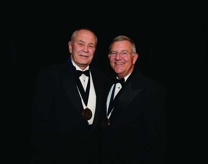 From left: Walt Woltosz and Jim Voss