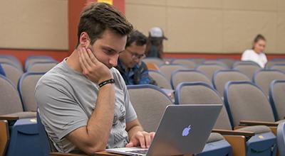 Patrick Keim in class
