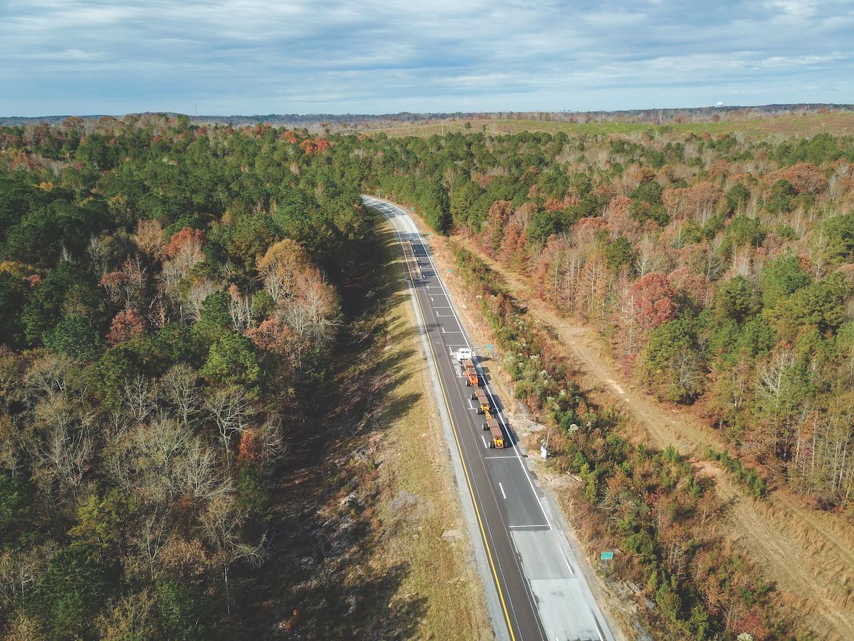 The National Center for Asphalt Technology's 1.7-mile test track.