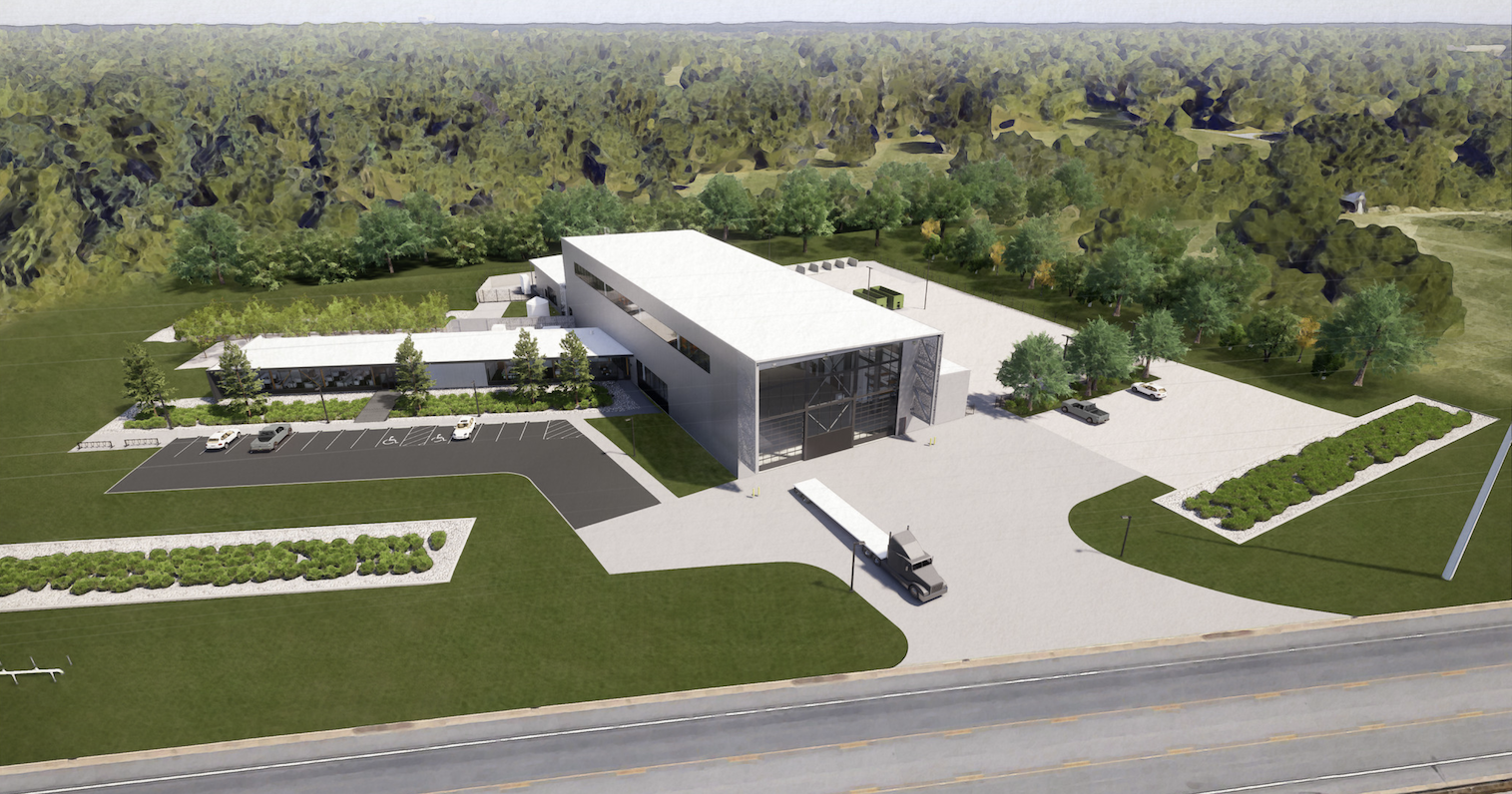 Artist's rendering of the new Advanced Structures Lab.