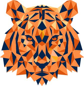 Auburn Hacks tiger logo.