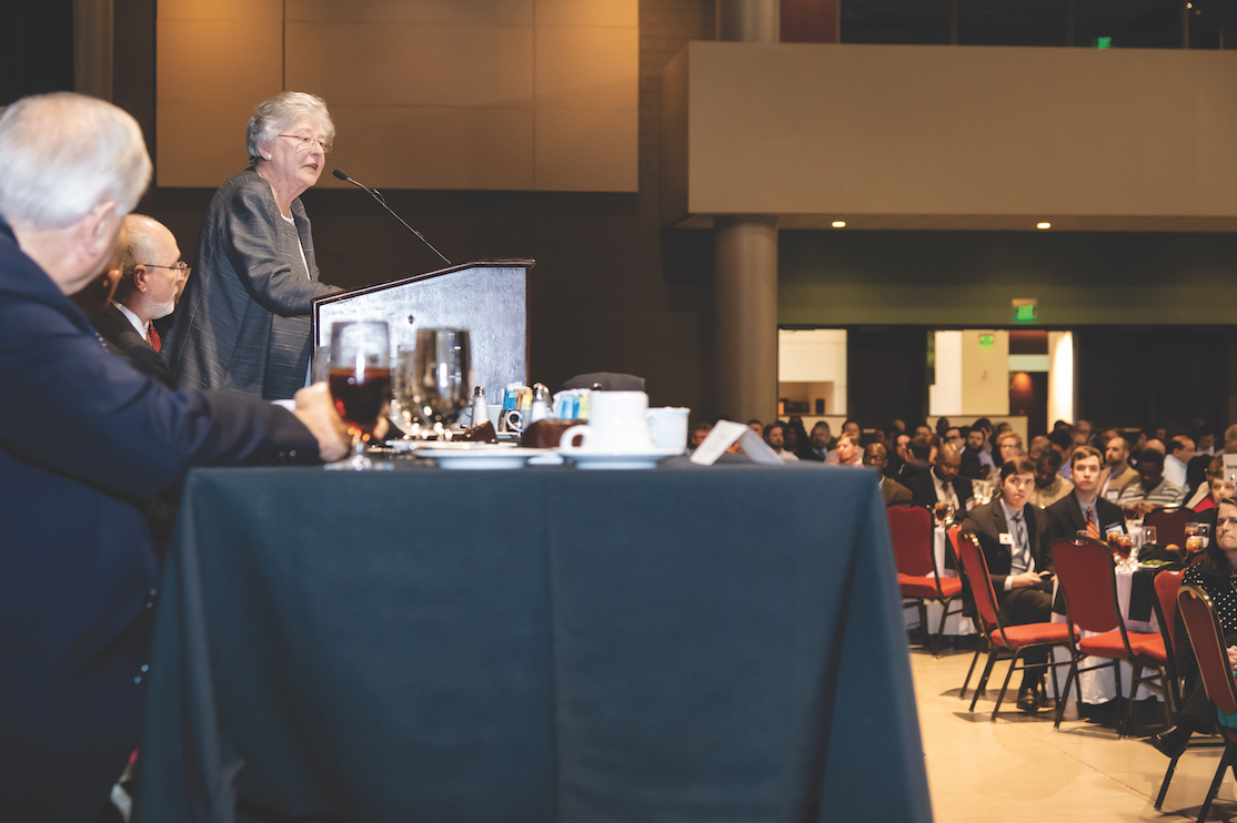 Kay Ivey speaking at the Annual Alabama Transportation Conference.